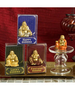Set of 4 Golden Buddha Figurines - $12.95