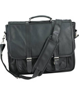 Embassy Solid Genuine Leather Attaché Case Brie... - $36.75