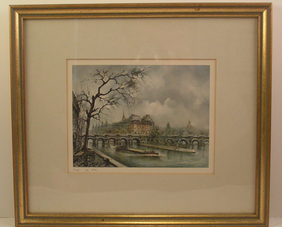 Prints French Signed Maurice Legendre Framed Set 4