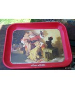 Coca-Cola Tray, 1986 Santa With Kids & Dog Lot 274 - $30.00