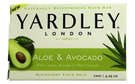 Yardley London Bar Soap, Aloe & Cucumber, 4.25o... - $8.14