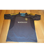 USED ADULT MEDIUM LA GALAXY HERBALIFE #11 SOCCE... - $14.84