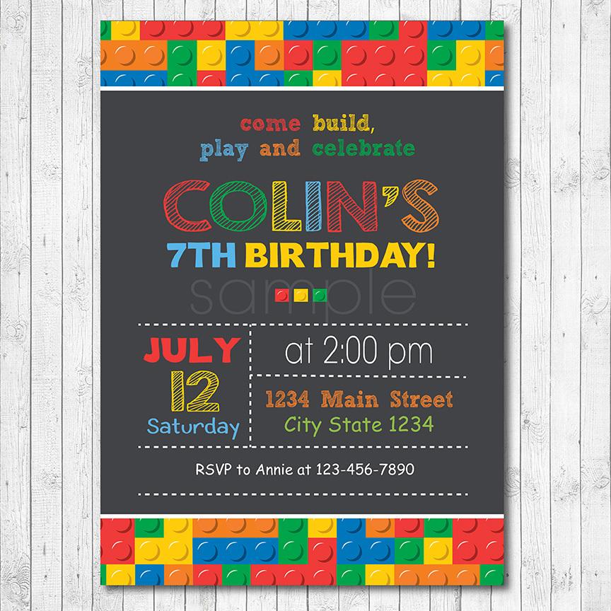 Lego Invitation Card with amazing invitation layout