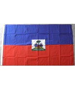 HAITI INTERNATIONAL COUNTRY POLYESTER FLAG 3 X ... - $7.44