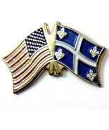 QUEBEC UNITED STATES US COMBO NATIONAL FLAG PIN... - $4.42