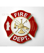 US FIRE FIGHTER DEPT EXTRA LARGE MEDALLION EMBL... - $19.50