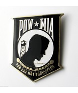 POW MIA METAL AND ENAMEL LARGE DISPLAY MEDALLIO... - $19.54