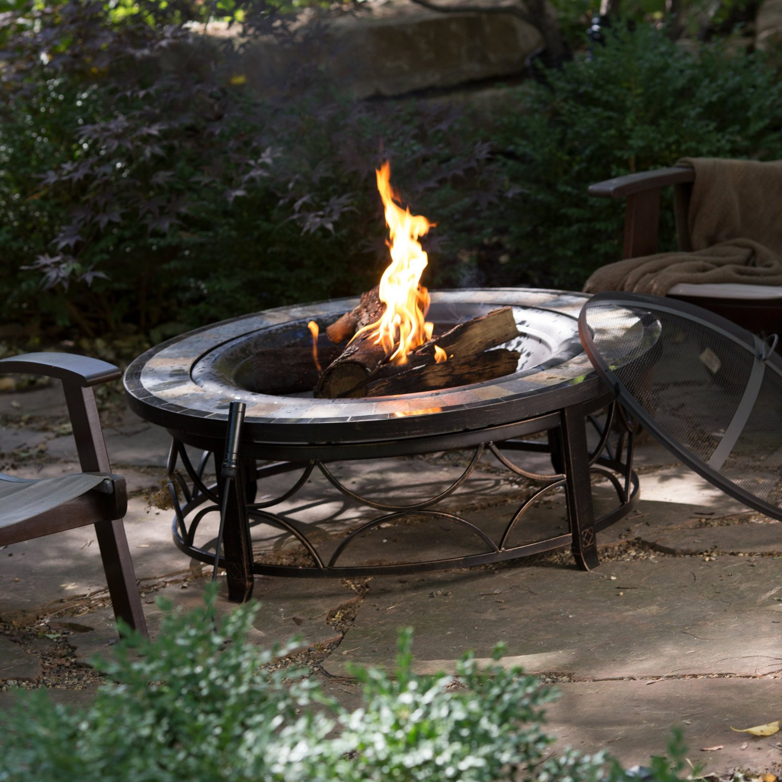 Outdoor Fire Pit Table Backyard Deck Garden Patio