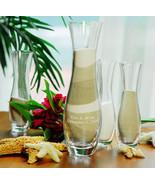 Engraved Sand Ceremony Unity Set 4 Pieces Vases... - $55.14
