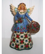 Jim Shore Heartwood Creek Angel With Flowers #1... - $19.00