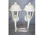 Buy Decorative White Outdoor Porch Lanterns Lot of 2 ___E21