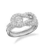 Sterling Silver Ring with CZ Knot Design - $99.99