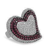 Multi Color CZ Heart Ring - $149.99