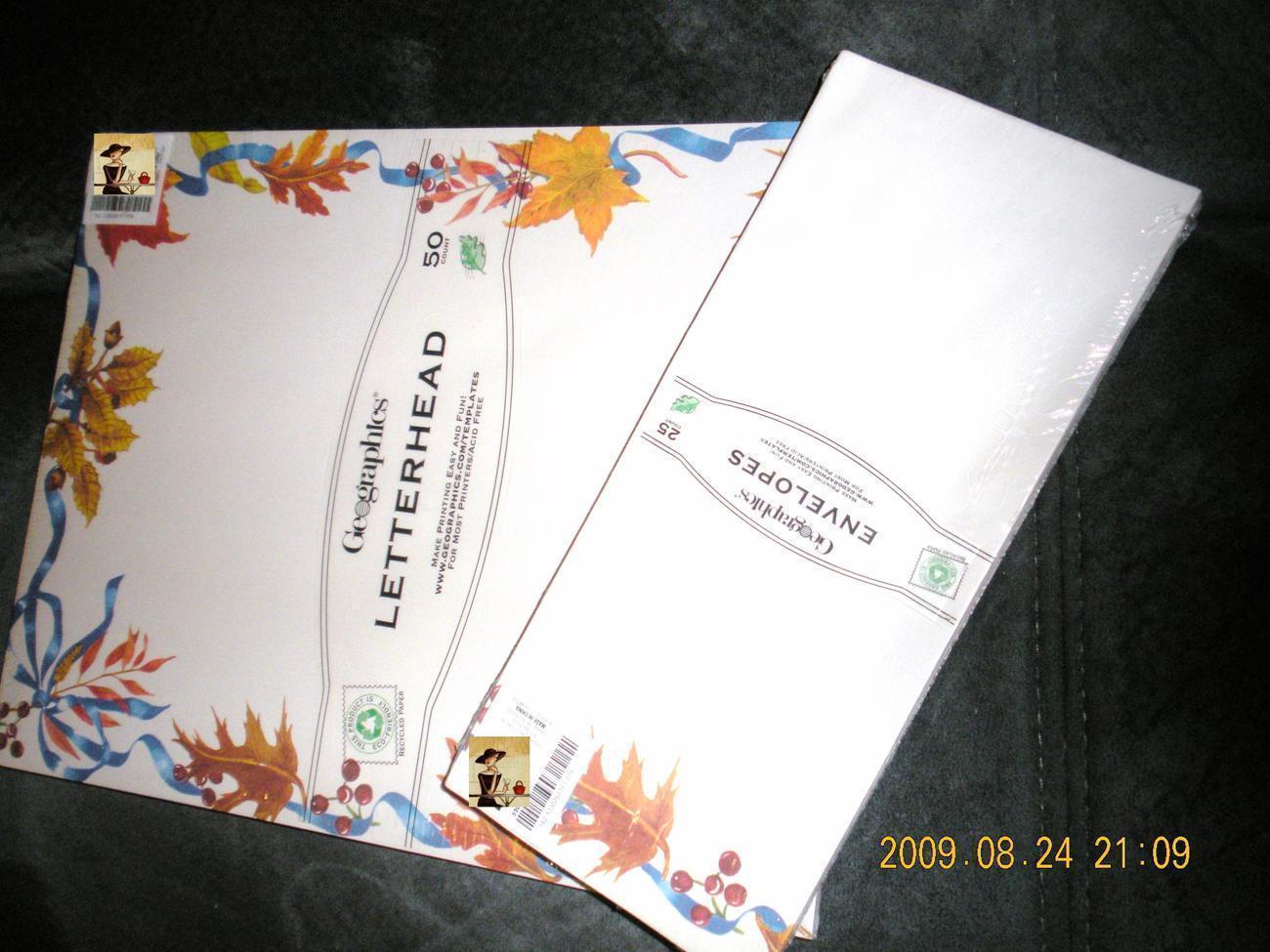 Geographic Letterhead 50 pg Printing Letterhead Paper & Enve