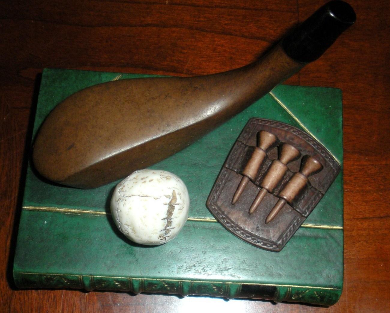 Enesco Golf desk Paperweight Golf Pins Golf theme