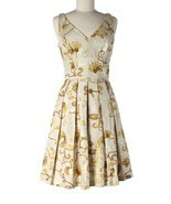 Women Chetta B Tan Ribbon Floral Pleated Mad Me... - $59.39
