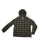 Men Eddie Bauer Plaid Windbreaker Pullover 1/2 ... - $26.72