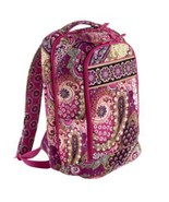 New Vera Bradley Large Laptop Backpack Bag Scho... - $98.99