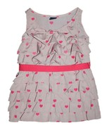 Girl Gap Edie Ruffle Pink Hearts Valentines Day... - $15.83
