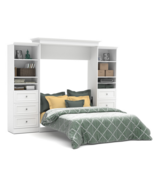 White Fold Away Wall Mounted Guest Wallbed Hide... - $3,479.95