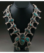 RARE Vintage 70s Navajo Sterling Silver BISBEE ... - $6,830.01