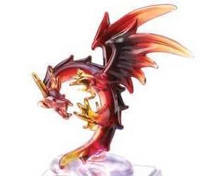 Image 1 of Spun Glass Light-Up Dragon