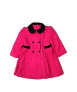 Girl Hot Pink Black F W Fischer Wool Dress Coat... - $49.49