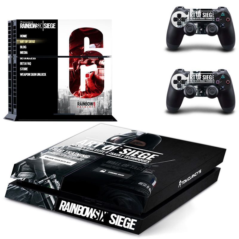 rainbow six siege New Design decal for PS4 Console skin ...