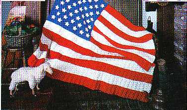 Crochet Pattern American Flag : Crochet * 5 * Red White & Blue Afghans AMERICAN FLAG ...