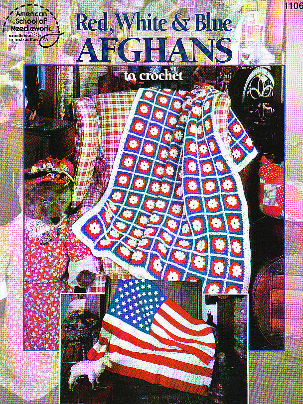American Flag Afghan - Christmas Crafts, Free Knitting Patterns