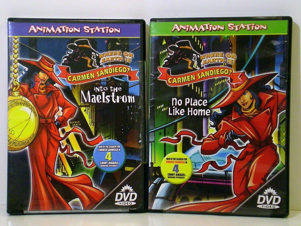Where on Earth is Carmen Sandiego? 2 DVDs Animation Station