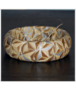 Ivory and Gold Stars Winter Metallic Fabric Ban... - $9.98