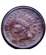 1884 INDIAN Head Cent - Bronze US Coin - SCARCE... - $41.50