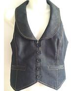 Ann Taylor Loft Navy Denim Vest size 2 - $16.49