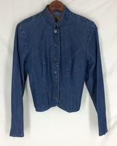 Sharon Young Denim Jacket Button Front Stylish ... - $22.23