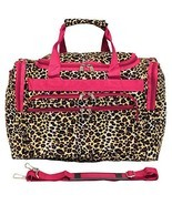 World Traveler 16 Inch Duffle Bag, Pink Trim Le... - $19.59