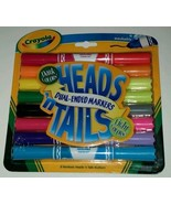 8 PC Crayola Heads n Tails Dual-Ended Markers D... - $6.92