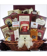 Chocolate Madness: Chocolate Burgundy Gift Bask... - $107.66