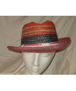 Vintage Miriam Lefcourt Colorful Straw Hat Hand... - $39.99