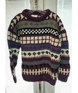 Handknit Ecuador Wool Chunky Knit Unisex Fisher... - $34.64