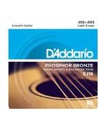 D'Addario EJ16 Phosphor Bronze, Light Gauge 12-... - $7.95