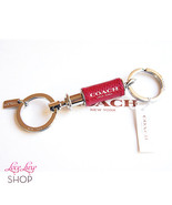 NWT COACH Red Leather Wrap Valet 2 in 1 Key Cha... - $58.00