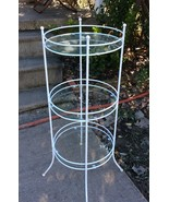 Vintage Tiered metal glass Plantstand plant sta... - $99.99