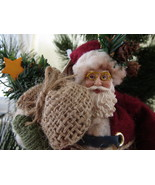 Cabin Creek Ornament, Santa with Wreath & Tree ... - $10.00