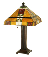Art Glass Tiffany Style Table Lamp 23.5