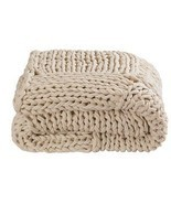 Throw rug kas braided natural hand knitted thro... - £87.93 GBP
