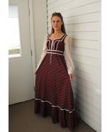Vintage 70s Gunne Sax Dress Prairie Full Corset... - $89.99