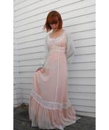 Gunne Sax Dress Corset Prairie Lace Hippie Full... - $79.99