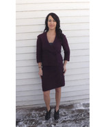 Vintage Purple Boucle Set Skirt Jacket XS 60s 70s - $39.99