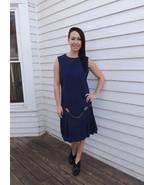 Blue Mod Dress Vintage 60s Wool Sleeveless Drop... - $59.99
